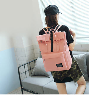 New Women External USB Charge Backpack Canvas Girls Laptop Backpack School Bags Backpack-Backpack-smartbackpac
