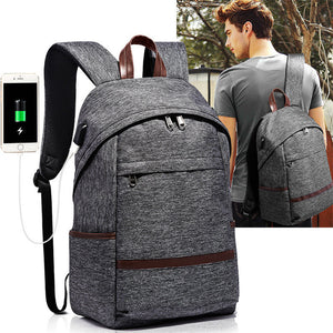 Multifunction USB charging Men 14inch Laptop Backpacks For Teenager Fashion Male Mochila Leisure Travel backpack-Backpack-smartbackpac