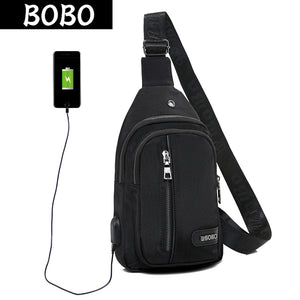 BOBO USB Charging Women Chest Bag Waterproof Nylon Ladies Single Shoulder Strap Back Bags Crossbody Bags Casual Travel Back Pack-Backpack-smartbackpac