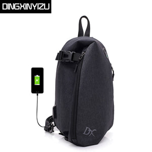 DINGXINYIZU 2018 New Anti-theft Chest Bags Casual Men Crossbody Bag Large Capacity USB Charge Travel Male Shoulder Messenger Bag-Backpack-smartbackpac