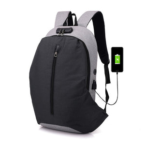 Anti-theft Men Backpack Large Capacity USB Charging Laptop Backpack For Teenager Stundet School Bag Male Casual Rucksack Mochila-Backpack-smartbackpac