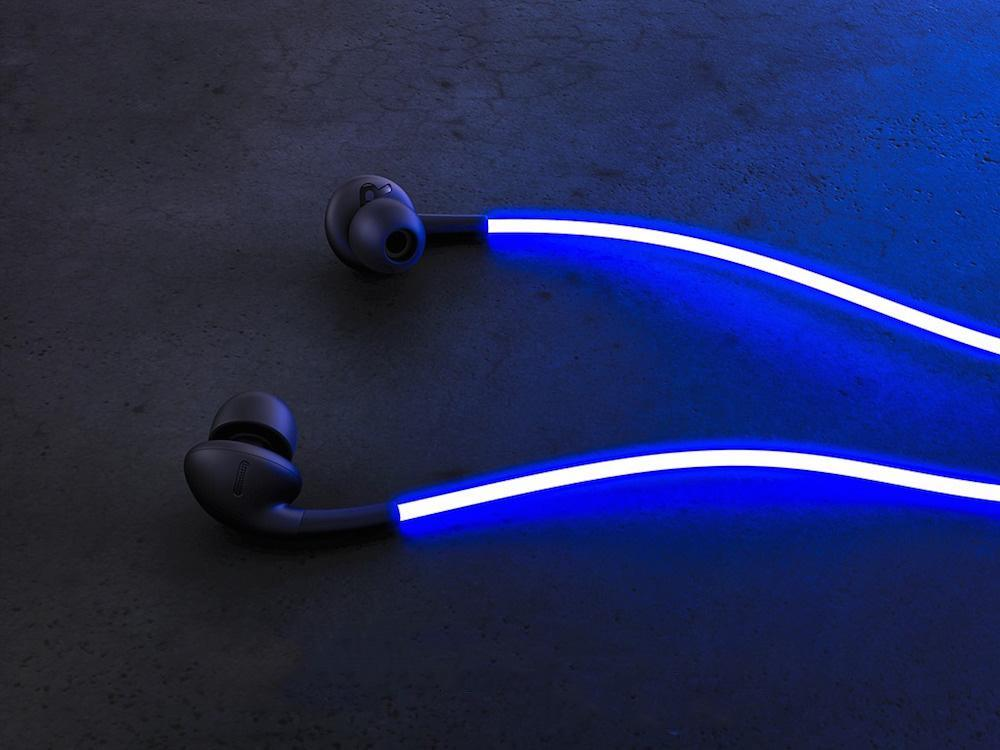 Only $19.99 - -LED SPARK EARPHONE--World's First and Only Laser Headphones