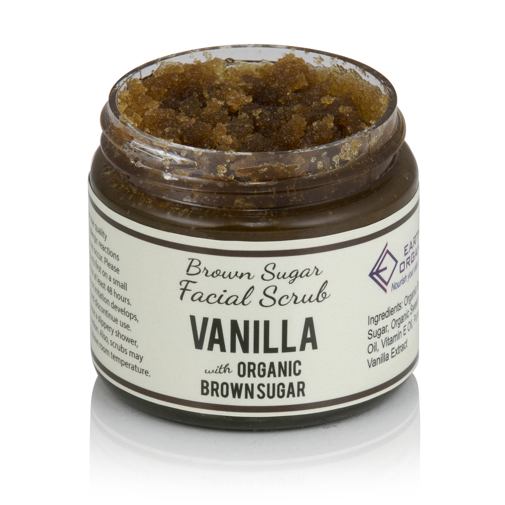 Vanilla Brown Sugar Facial Scrub - Earth's Organics