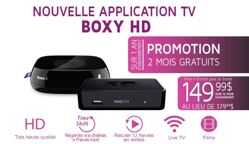BOXYHD : ROKU,MAG 322 W1,SMART TV,IPHONE,PC.. TEST GRATUIT..