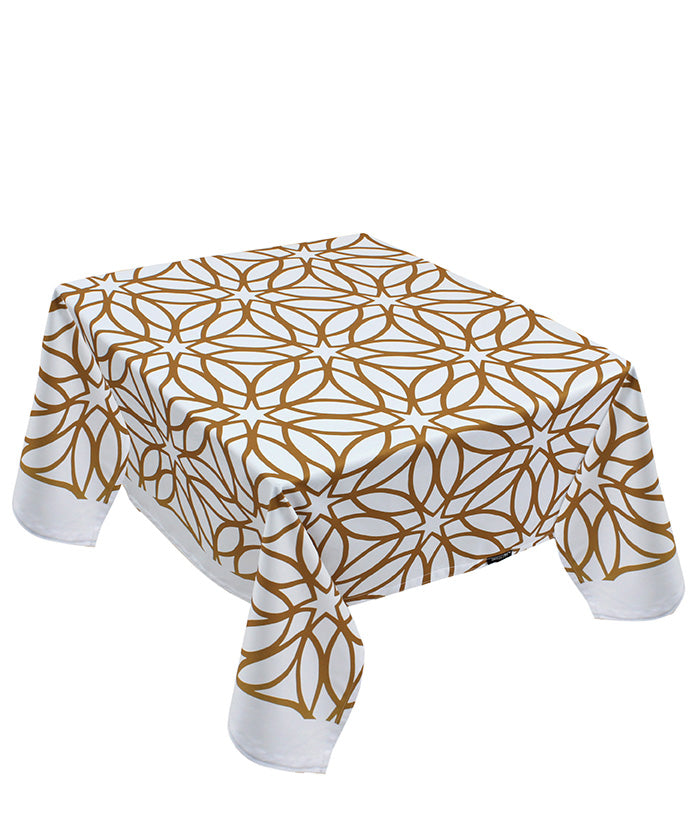 The classic golden table cover