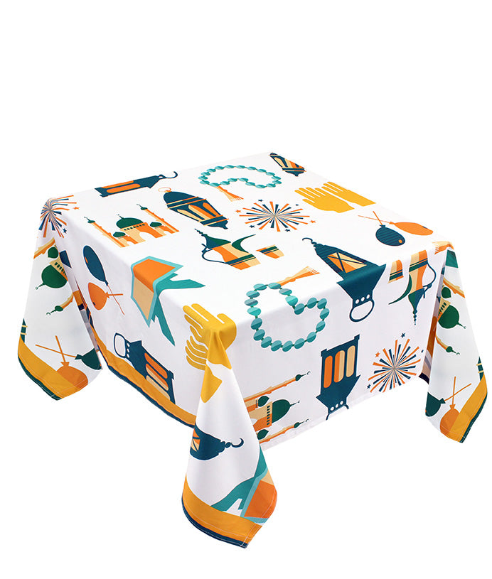 The green icon Ramadan table cover
