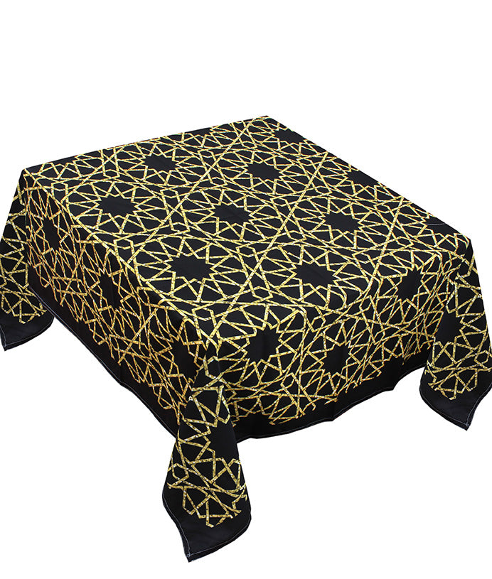 The golden black table cover