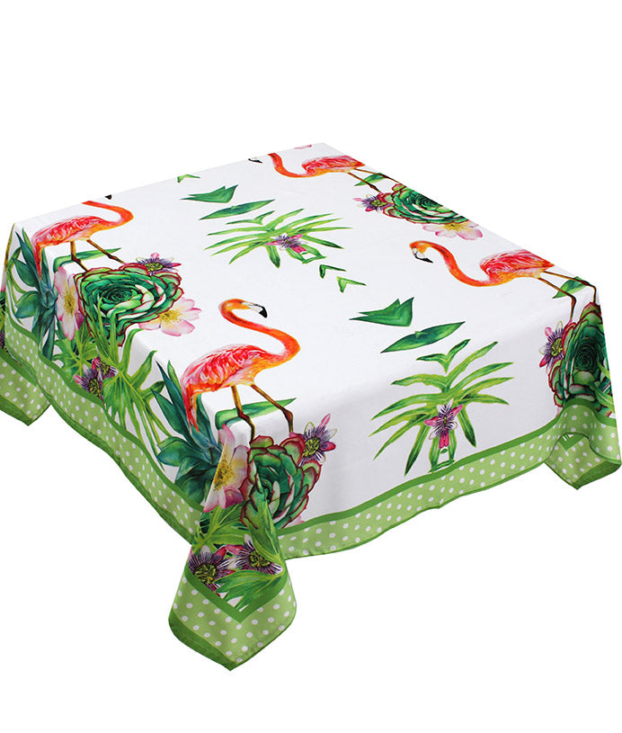 The Green Jungle Bird Table Cover