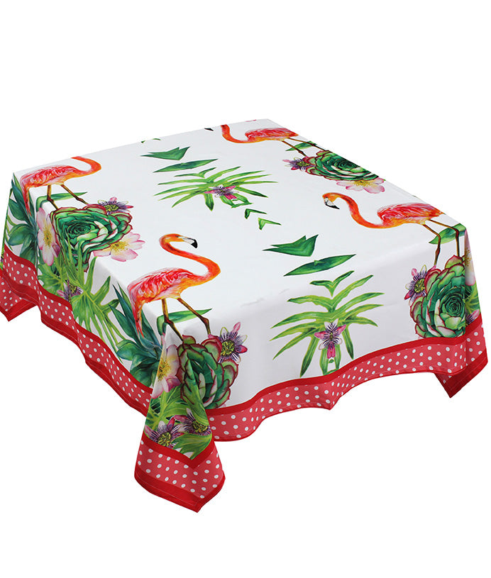 The Red Jungle Bird Table Cover