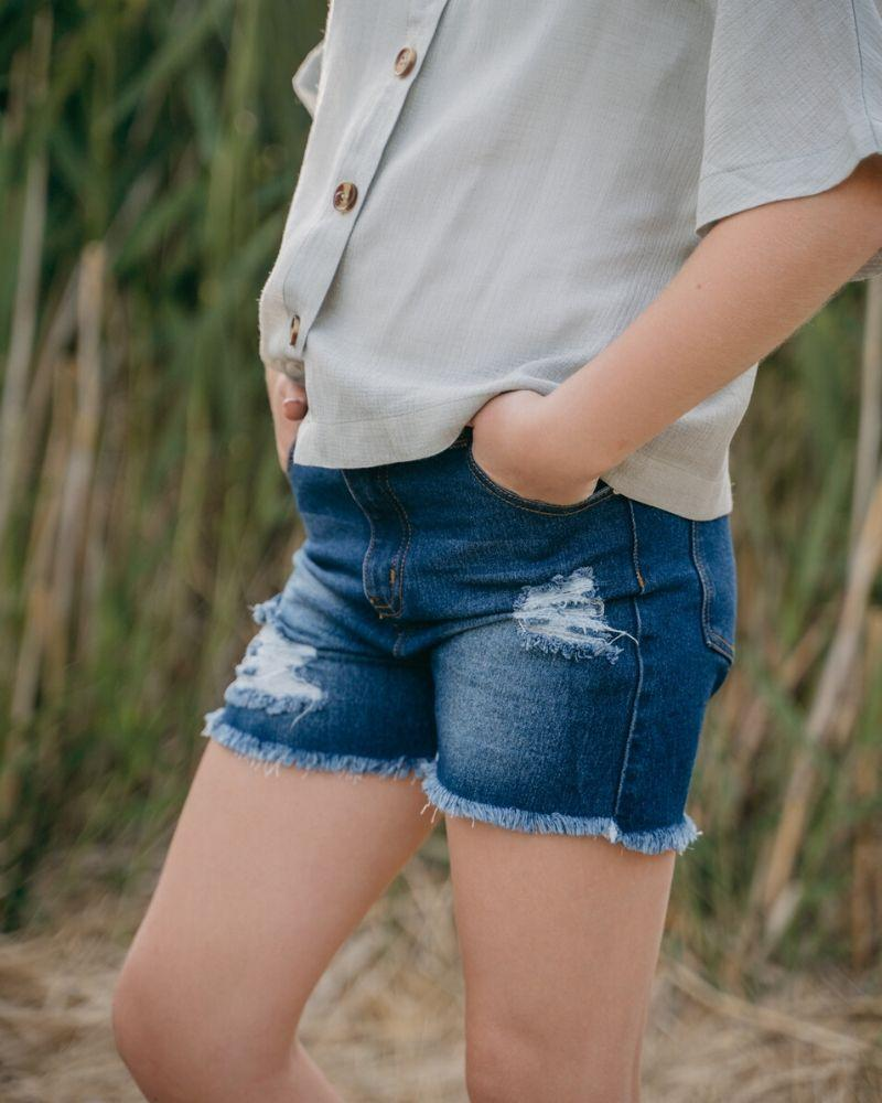 Skylar Shorty Shorts - Dark Denim