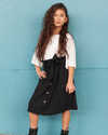 Cameron Midi Skirt Mom, Mini & Me - Black