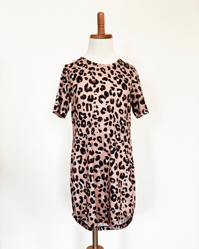 Tatum T-Shirt Dress - Lady Leopard