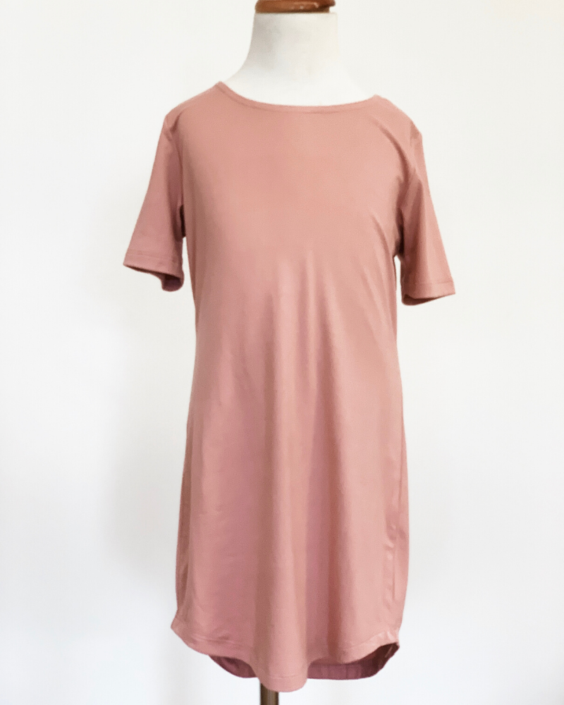 Tatum T-Shirt Dress - Flamingo Pink