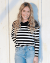 ERICA - BLACK & WHITE STRIPED TOP