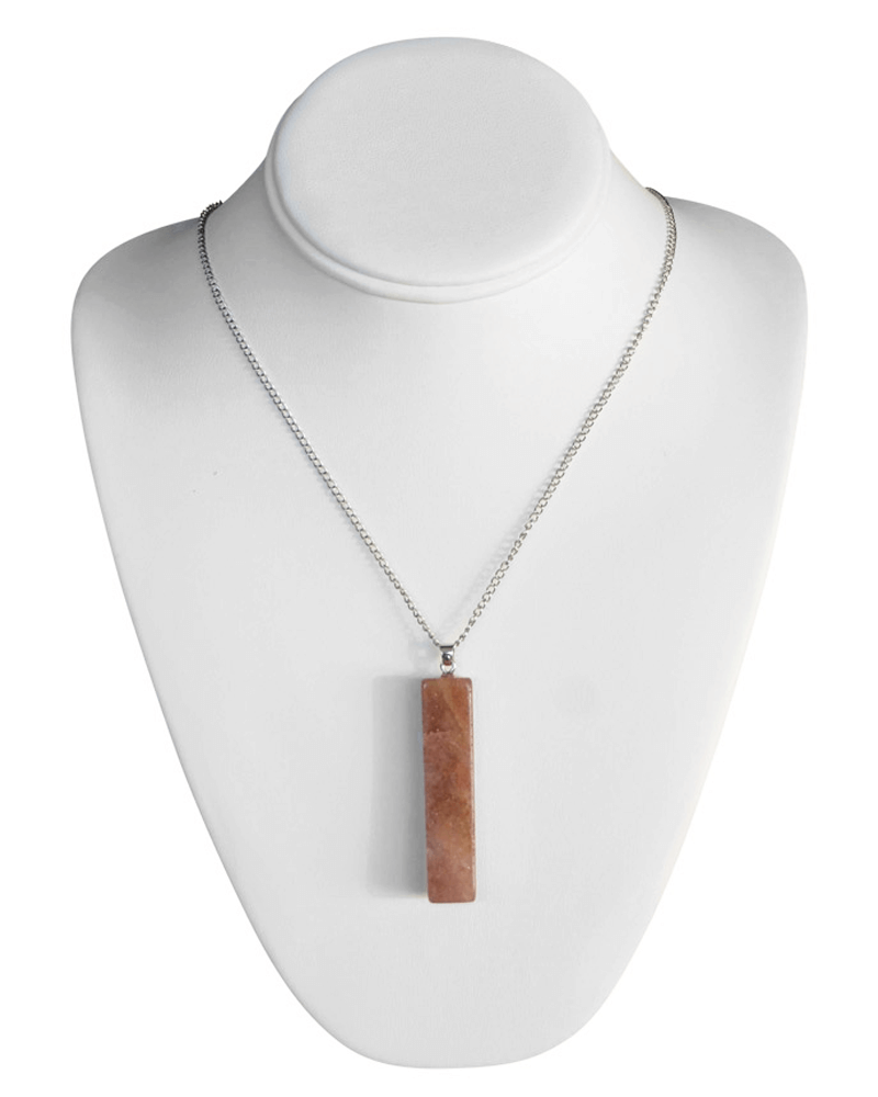 ROSY BROWN BLOCK NECKLACE