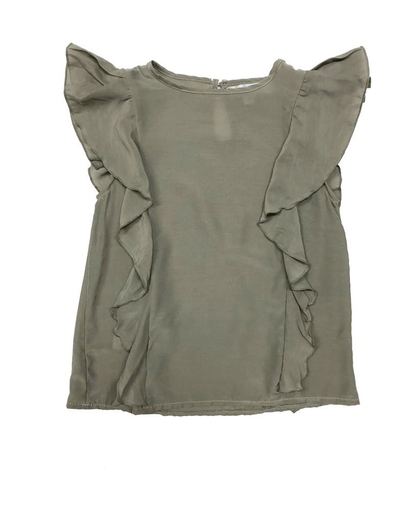 MORGAN SIDE FLUTTER TOP - SAGE
