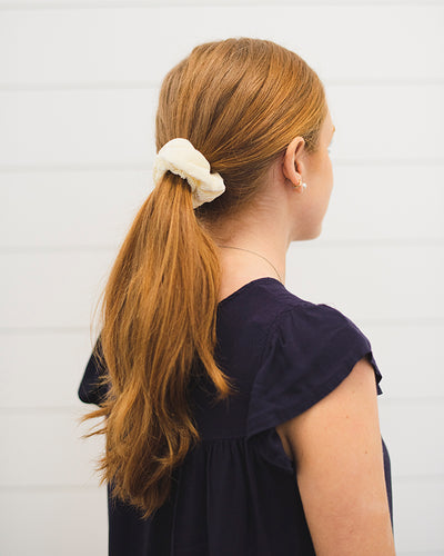Stephanie Scrunchie Set - Ivory, Mauve and Floral