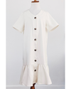 Ellorie Ruffle Hem Dress - Ivory