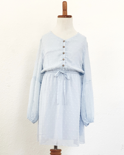 The Windsor Dot Dress- Amalfi Blue
