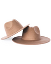 Bordeaux Mommy & Me Flat Brim Hat - Mocha