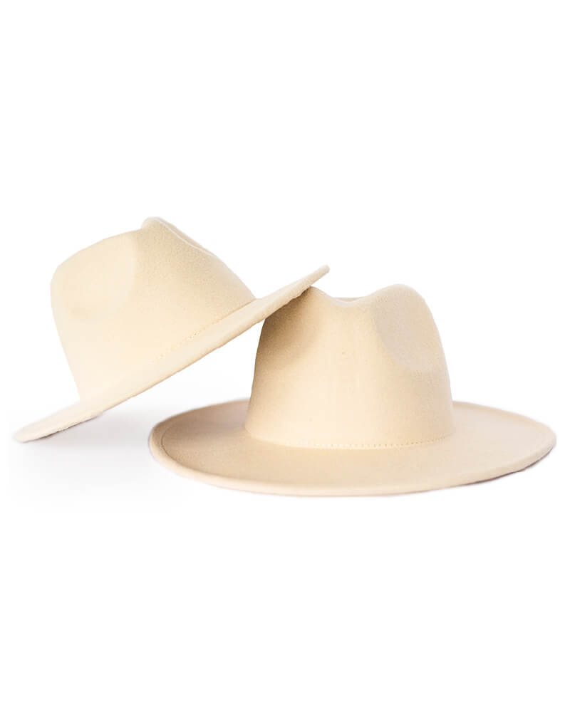 Bordeaux Mommy & Me Flat Brim Hat - Ivory