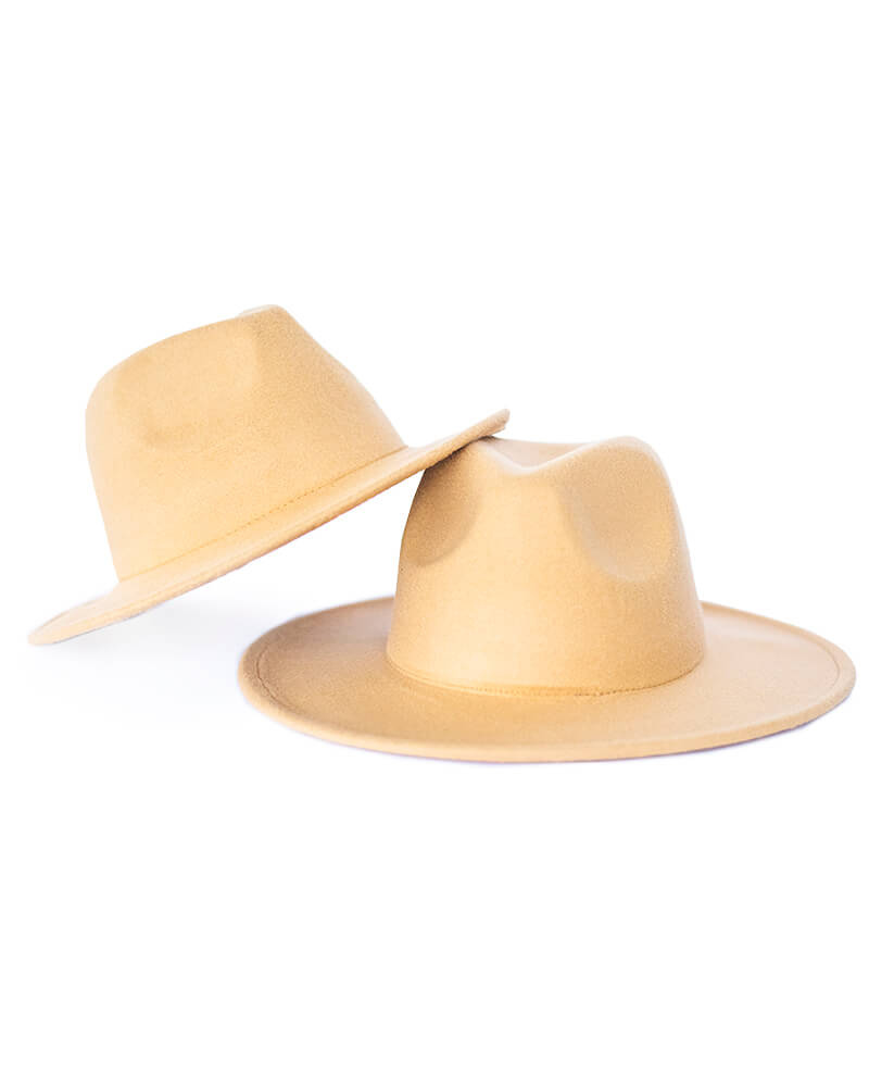 Bordeaux Mommy & Me Flat Brim Hat - Camel