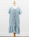 Ellorie Ruffle Hem Dress - Bluebird