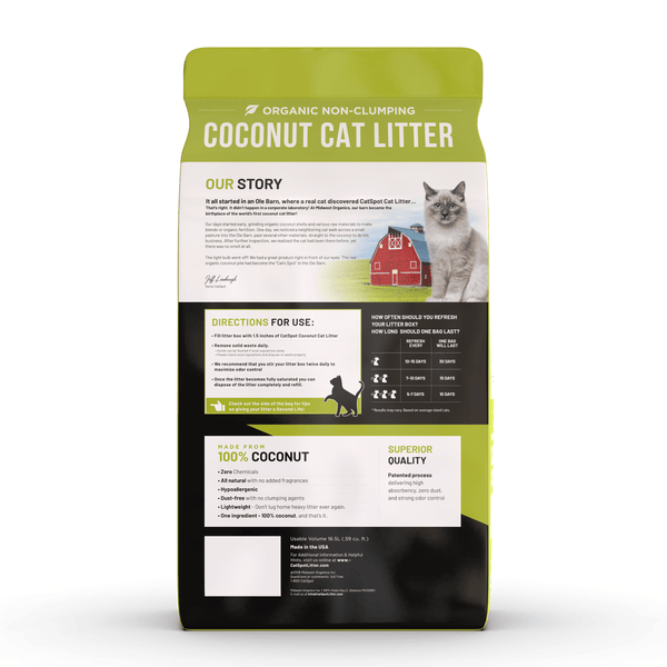 CatSpot Litter, 100% Coconut Cat Litter