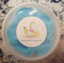 Load image into Gallery viewer, Blue Cotton Candy Cloud Slime *scented* - 8 ounces
