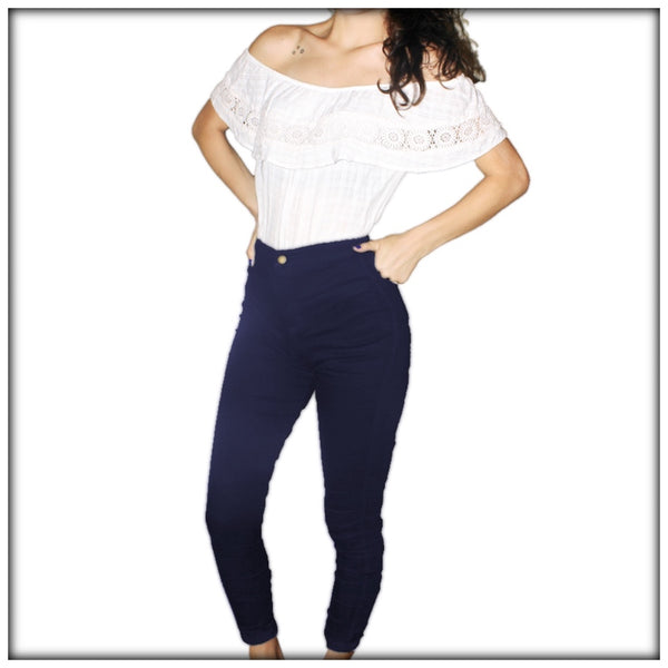 High Waist Slim Lift Jeans