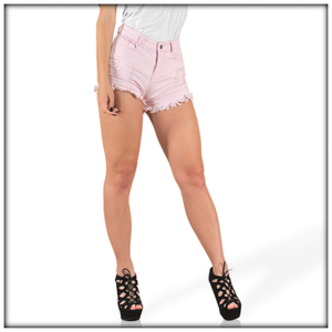 High Waist Elasticity Denim Shorts