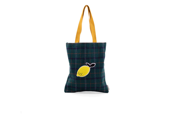 TOTE BAG WANDERER FOREST GREEN CHECKS