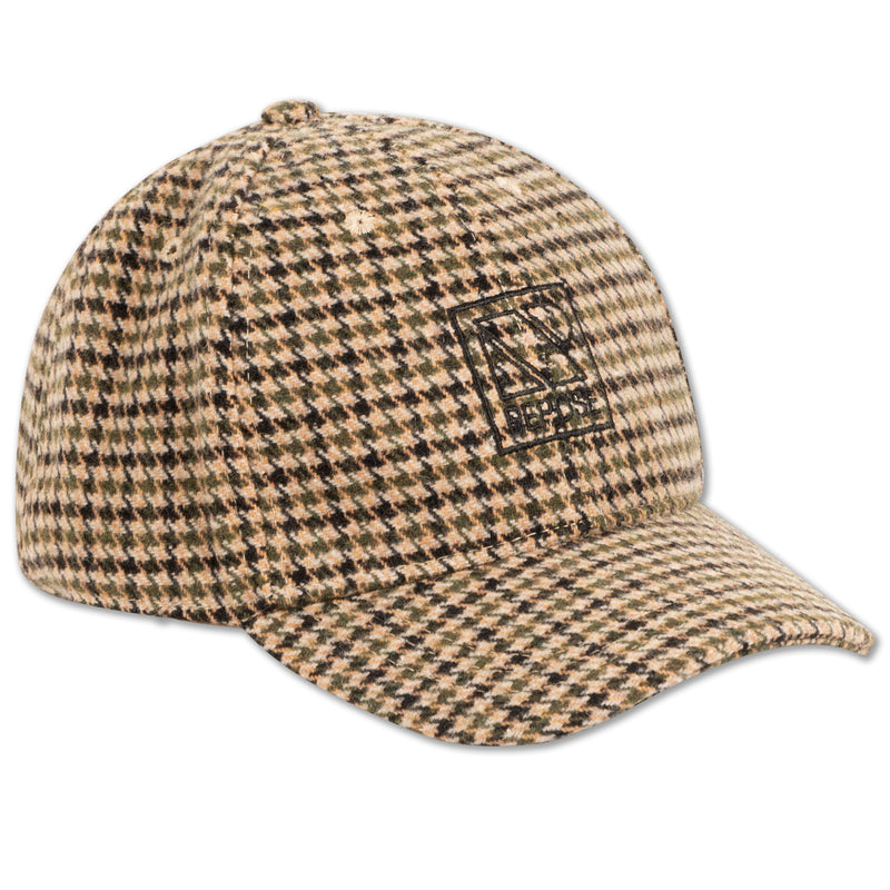 CAP GREEN NOIR CHECK