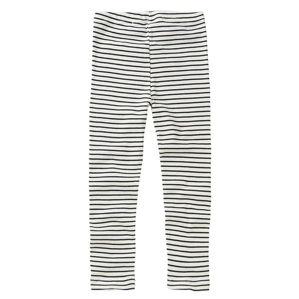 RIB LEGGING STRIPES WHITE