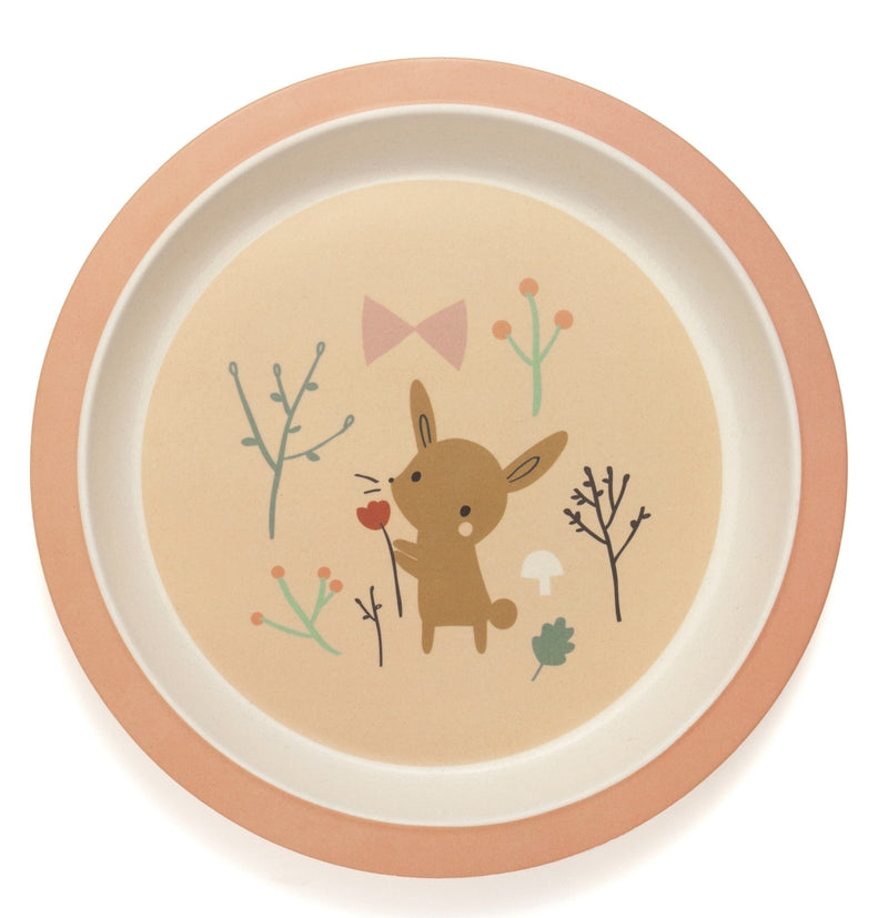BAMBOO PLATE BUNNY