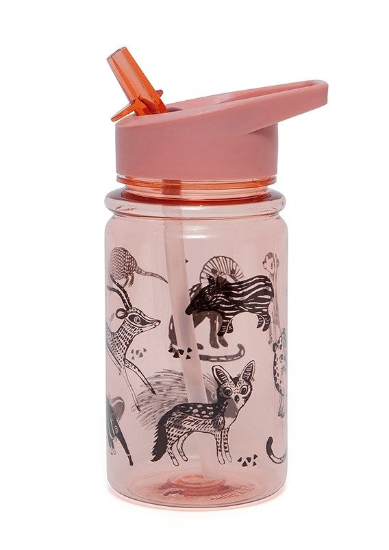 DRINKING BOTTLE BLACK ANIMALS