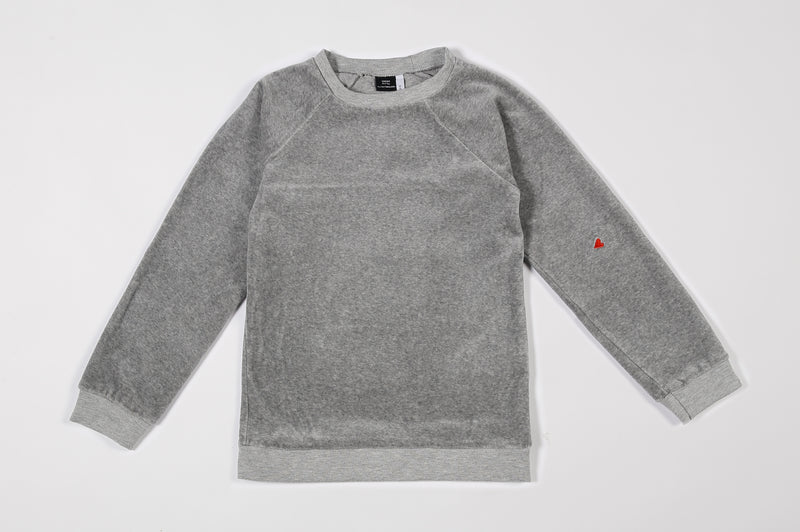 KID REGLAN SWEATER VELVET GREY MELEE