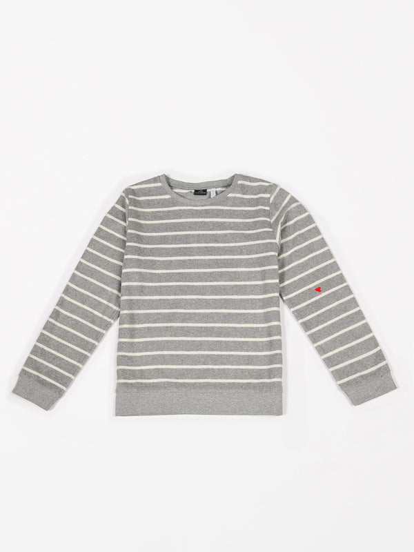 SWEATER TERRY STRIPES GREY MELEE