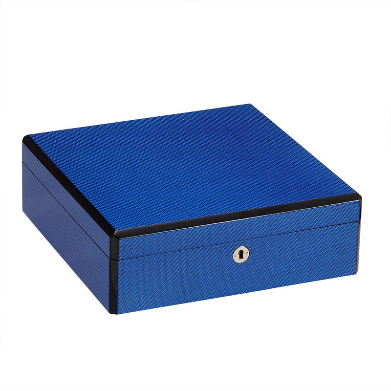 9 Watch Case Carbon Fiber (Cobalt Blue)