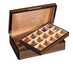 30 Cufflink Case Wood Veneer (Ebony)