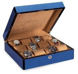 12 Watch Case Carbon Fiber (Cobalt Blue)