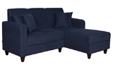 Kikko LHS Two-Seater Sofa with Lounger and Cushions