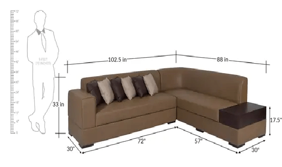 Sensational Alden Left Hand Side Sectional Sofa Gmtry Best Dining Table And Chair Ideas Images Gmtryco