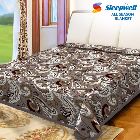 Sleepwell All Season Blanket Printed Double