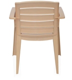 Nilkamal CHR2135 Mid Back Plastic chair in Biscuit Brown Color