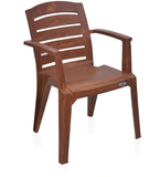 Nilkamal CHR2135 Mid Back Plastic Chair in Brown Color