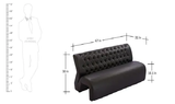 Domus 3-Seater Leather Sofa with Tufted Back