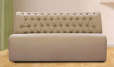 Domus Three-Seater Sofa with Tufted Beige