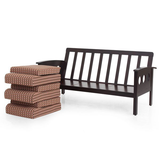 JFA Garnet Wooden Sofa 3+1+1 Set