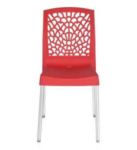 Nilkamal Novella 19SS Bright Red Chair